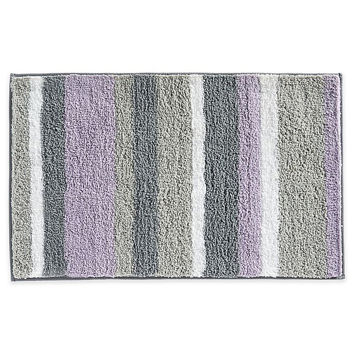 Microfiber Towels Bed Bath And Beyond: InterDesign® Microfiber Stripz Bath Rug Collection