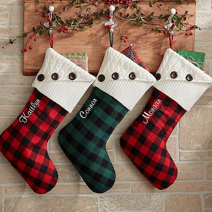Bed Bath And Beyond Christmas Stockings.Buffalo Check Christmas Stocking Bed Bath Beyond
