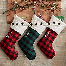 Buffalo Check Christmas Stocking