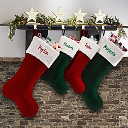 Velvet Elegance Christmas Stocking