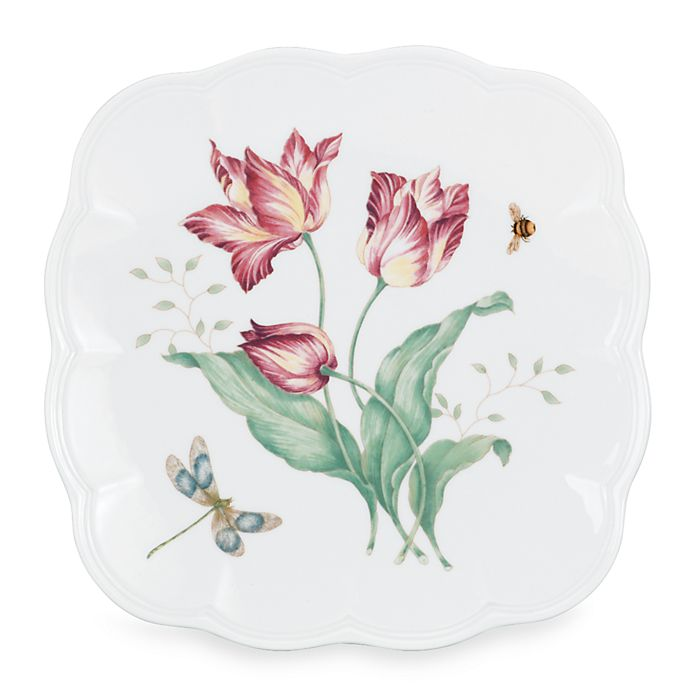Alternate image 1 for Lenox® Butterfly Meadow® 9.25-Inch Square Accent Plate