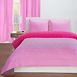 Crayola® Reversible Solid Twin Comforter Set in Magenta/Pink