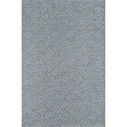 Momeni Como Geometric 2' x 3' Indoor/Outdoor Accent Rug in Blue