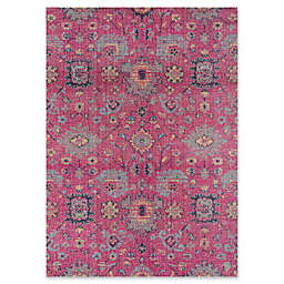 Momeni Jewel 5'3 x 7'6  Floral Loomed Area Rug in Pink