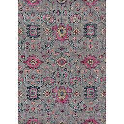 Momeni Jewel 7'10 x 9'10  Floral Loomed Area Rug in Grey