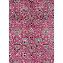 Momeni Jewel 9' x 12'  Floral Loomed Area Rug in Pink