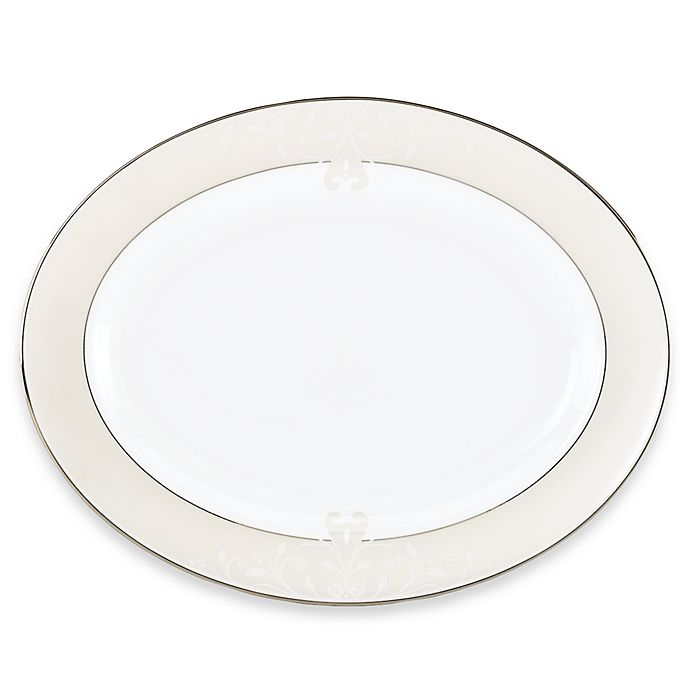 Alternate image 1 for Lenox® Opal Innocence™ Scroll 16-Inch Oval Platter