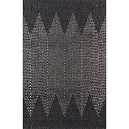 Momeni Como Abstract Indoor/Outdoor Rug in Charcoal