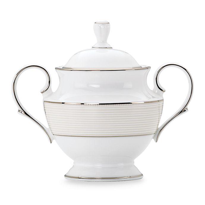 Alternate image 1 for Lenox® Opal Innocence™ Stripe Covered Sugar Bowl