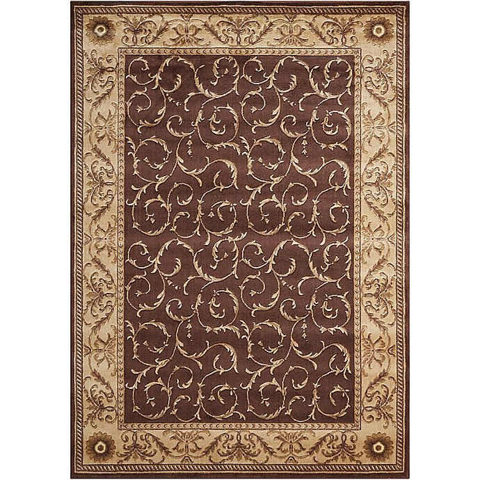 Alternate image 1 for Nourison Somerset 3'6 x 5'6 Area Rug in Brown