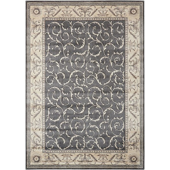 Alternate image 1 for Nourison Somerset 3'6 x 5'6 Area Rug in Charcoal