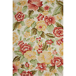 Nourison Fantasy Floral Rug in Cream