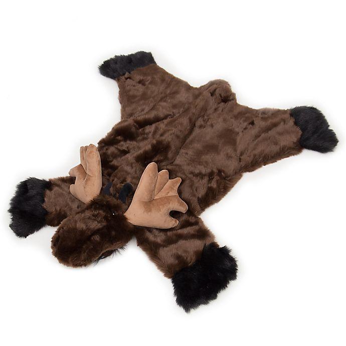 Carstens Moose Hand-Woven Kids Plush Rug