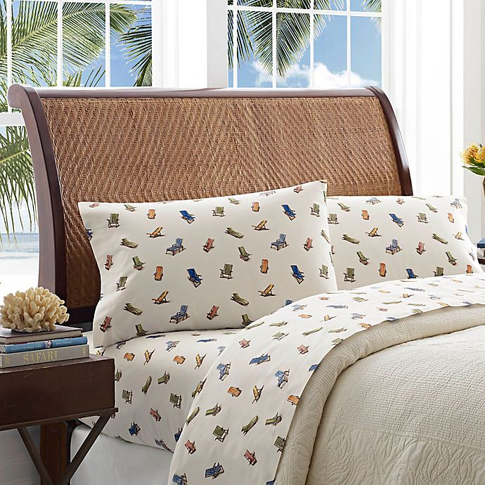 Alternate image 1 for Tommy Bahama® Beach Chairs 200-Thread-Count California King Sheet Set