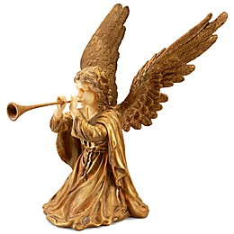 National Tree Company® Angel with Horn in Gold