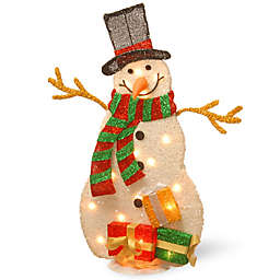 National Tree Company Pre-Lit 31-Inch Snowman Holiday Decoration