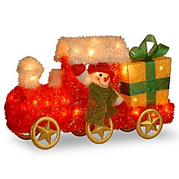 National Tree Company® Pre-Lit Tinsel Train with Gift with Clear Lights