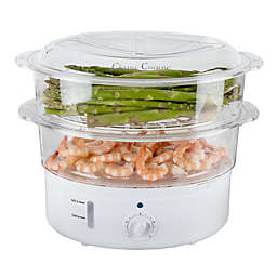 Classic Cuisine 6.3 qt. Vegetable Steamer Cooker in White
