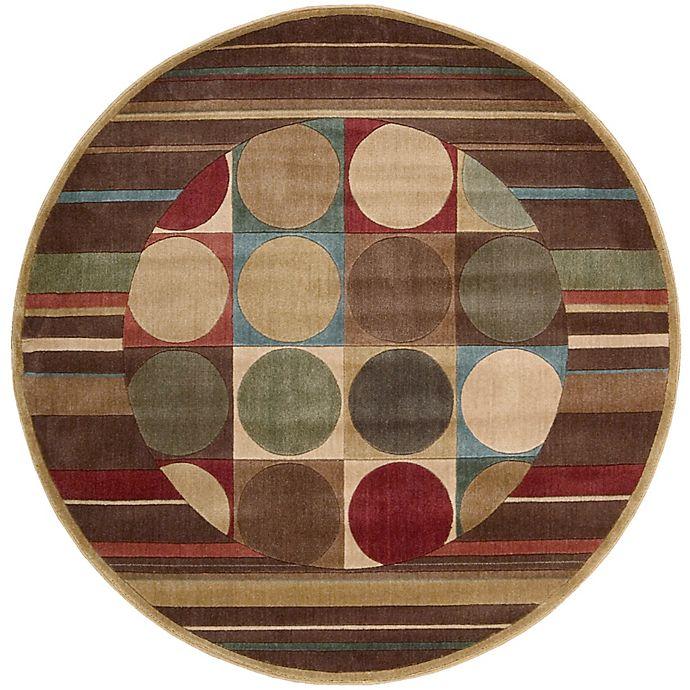 Alternate image 1 for Nourison Somerset Shapes 5'6 Round Multicolor Area Rug