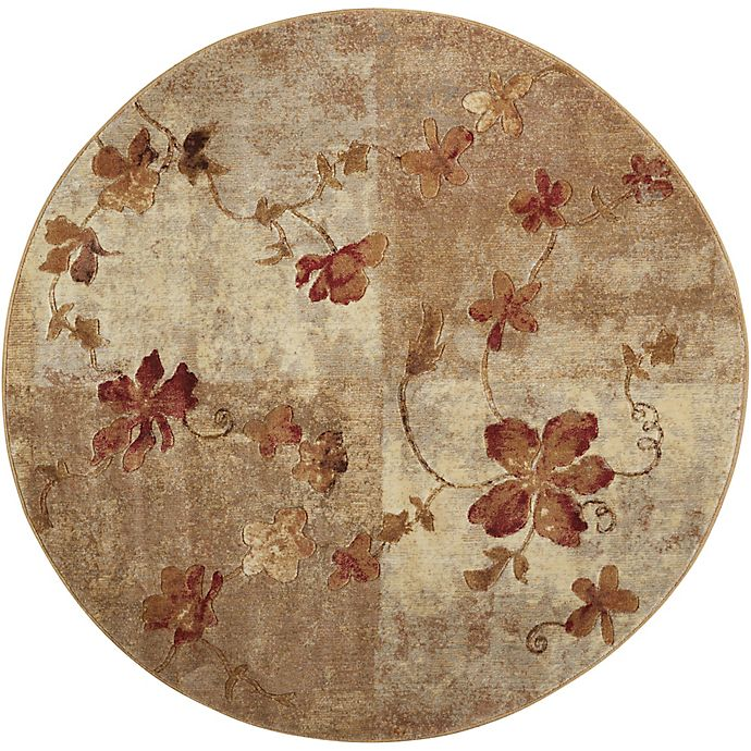 Alternate image 1 for Nourison Somerset Vines 5'6 Round Multicolor Area Rug