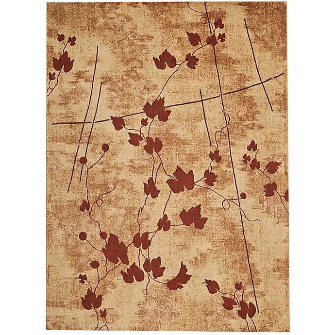 Alternate image 1 for Nourison Somerset Leaves 5'3 x 7'5 Area Rug in Brown