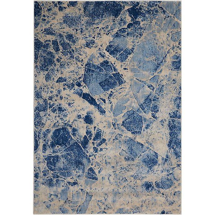 Alternate image 1 for Nourison Marble 2' x 2'9 Loomed Area Rug in Blue