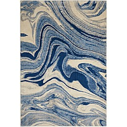 Nourison Home & Garden Somerset Marble Area Rug in Light Blue