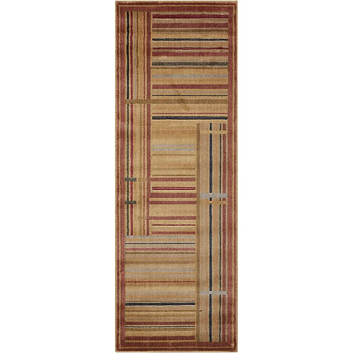 Alternate image 1 for Nourison Somerset Striped 2' x 5'9 Loomed Multicolor Runner