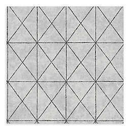 A-Street Prints Intersection Geometric Wallpaper in Silver