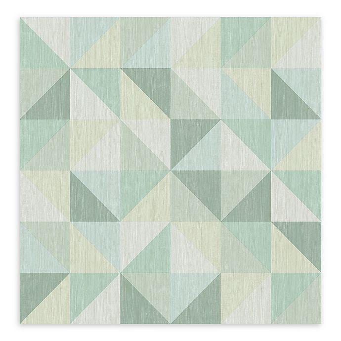 Alternate image 1 for A-Street Prints Puzzle Geometric Wallpaper in Green