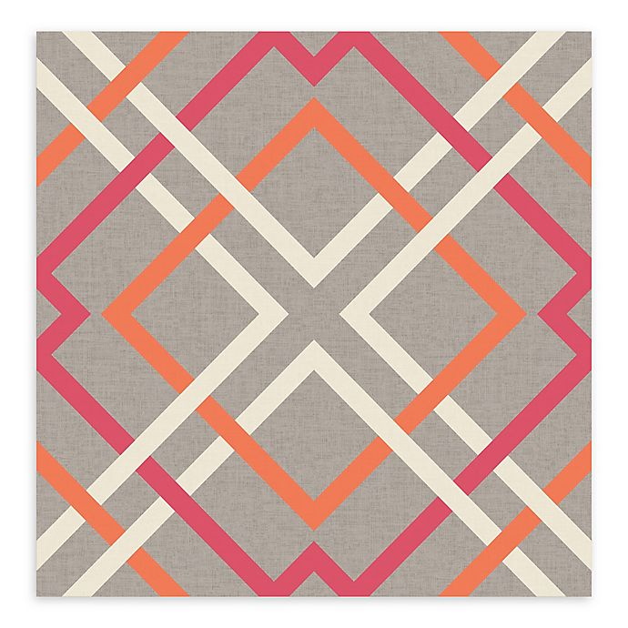 Alternate image 1 for A-Street Prints Saltire Lattice Wallpaper in Pink