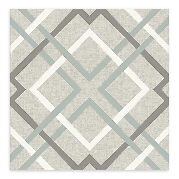 Alternate image 1 for A-Street Prints Saltire Lattice Wallpaper in Taupe