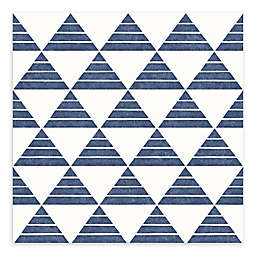 A-Street Prints Summit Triangle Wallpaper in Blue