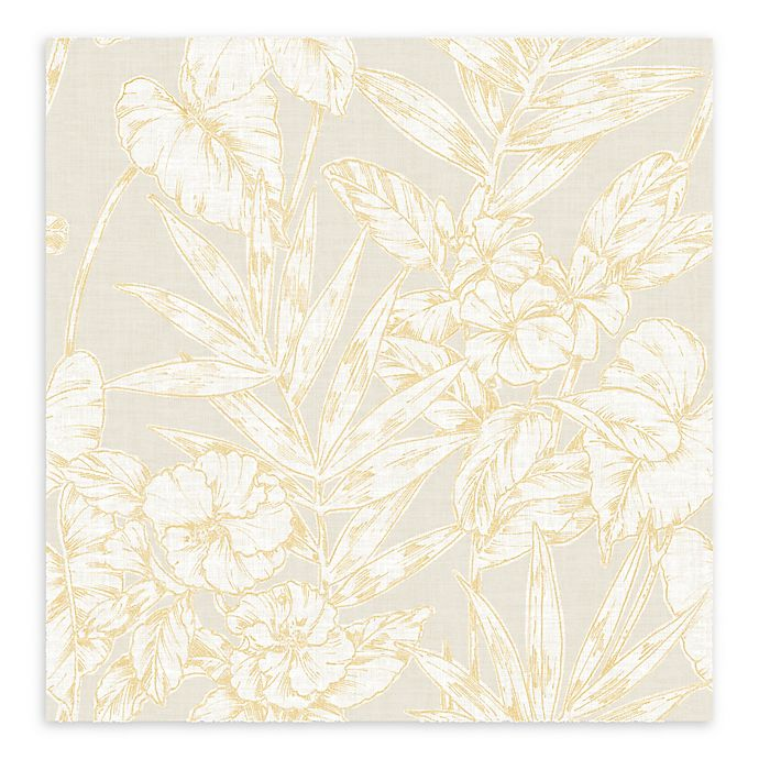 Alternate image 1 for A-street Prints Fiji Floral Wallpaper in Mustard