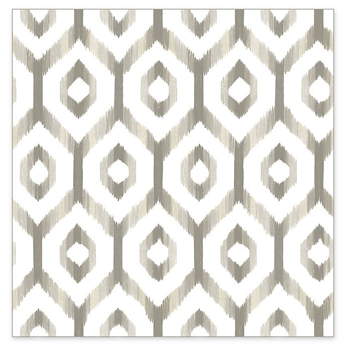 Alternate image 1 for A-Street Prints Lucia Diamond Wallpaper in Grey