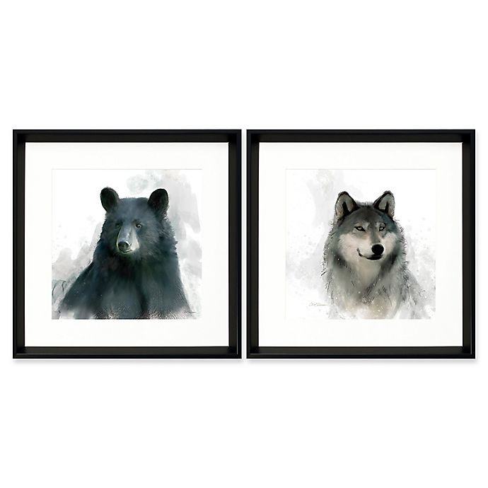 Alternate image 1 for Stylecraft Home Faces of the Tundra 18-Inch Square Framed Wall Art (Set of 2)