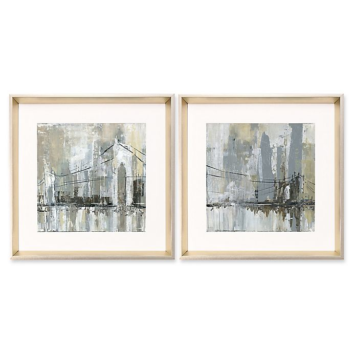 Abstract Cityscape 2 Piece Wall Art Bed Bath Beyond