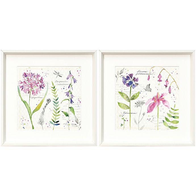 Alternate image 1 for Soft Nature 18-Inch Square Framed Wall Art (Set of 2)