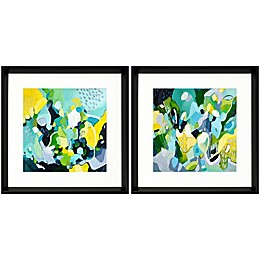Dinner Party 18-Inch Square Framed Wall Art (Set of 2)