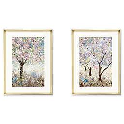 Stylecraft 20-Inch x 18-Inch Trees in Spring 2-Piece Wall Art Set in Grey