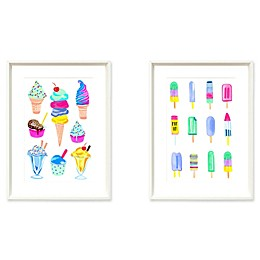 """Stylecraft """"Summer Treat"""" 2-Piece Framed Print Wall Art Set"""