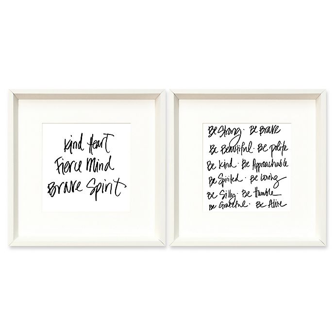Alternate image 1 for Be Strong 18-Inch Square Framed Wall Art (Set of 2)
