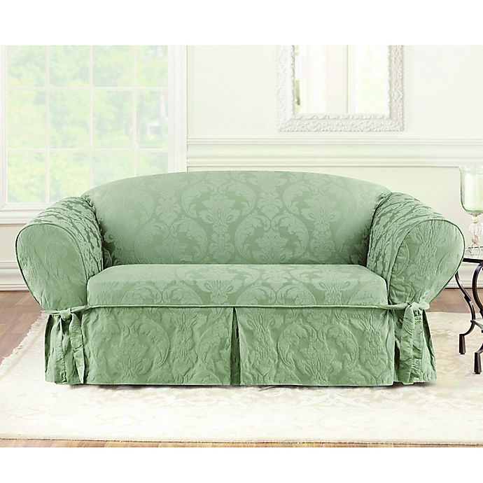Enjoyable Sure Fit Matelasse Damask Loveseat Cover Bed Bath Beyond Squirreltailoven Fun Painted Chair Ideas Images Squirreltailovenorg