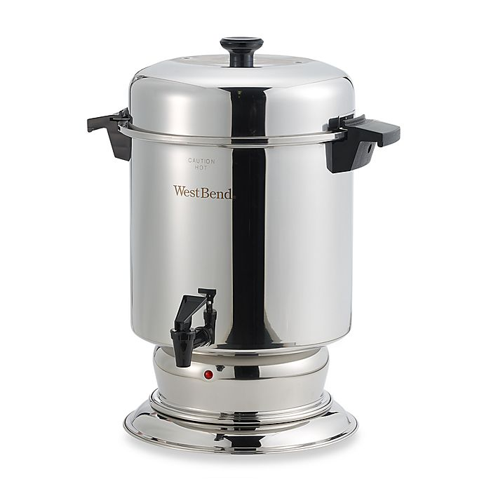 Alternate image 1 for West Bend® 55-Cup Commercial Stainless Steel Coffee Urn