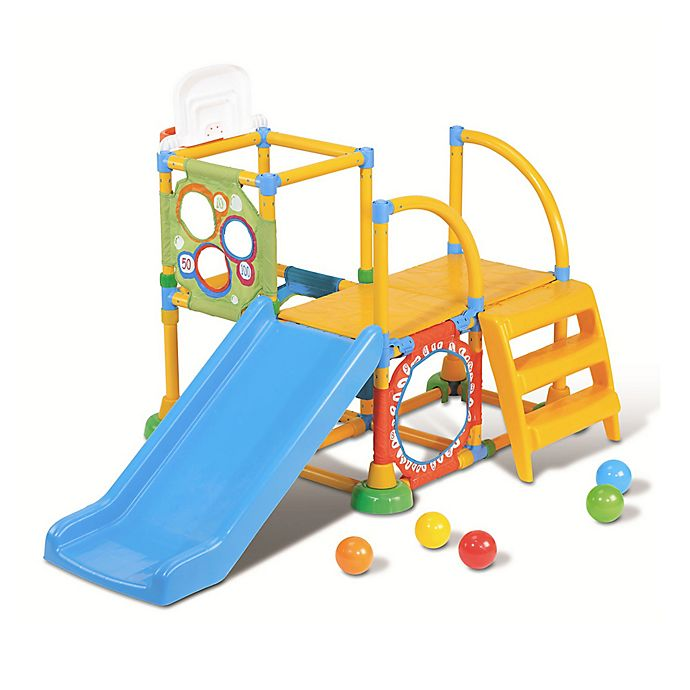 Alternate image 1 for Grow'n Up Climb-N-Slide Activity Gym