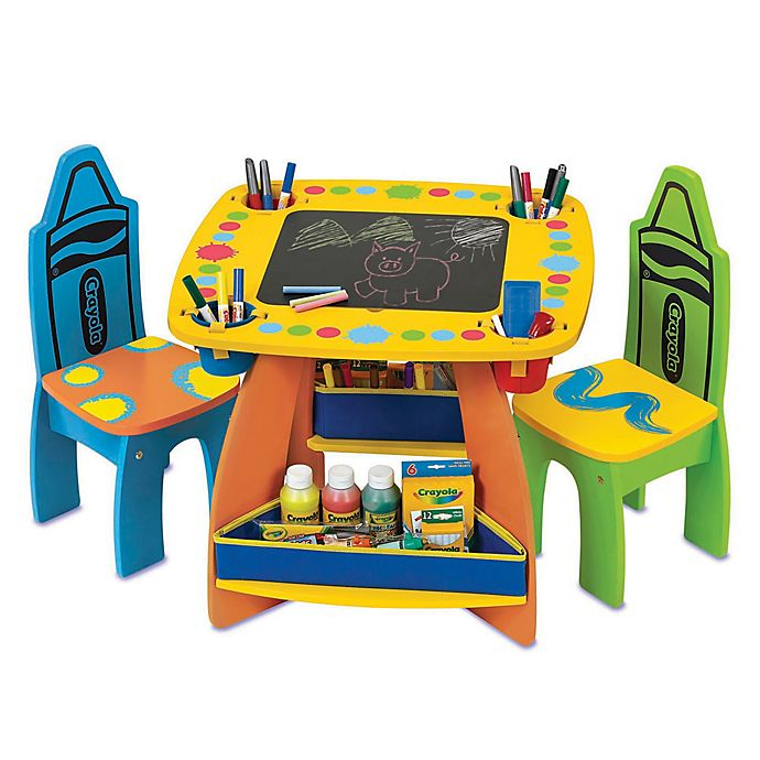 Crayola Grow N Up Wooden Table And Chair Set Bed Bath Beyond