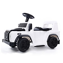Land Rover 6V Ride-On in White