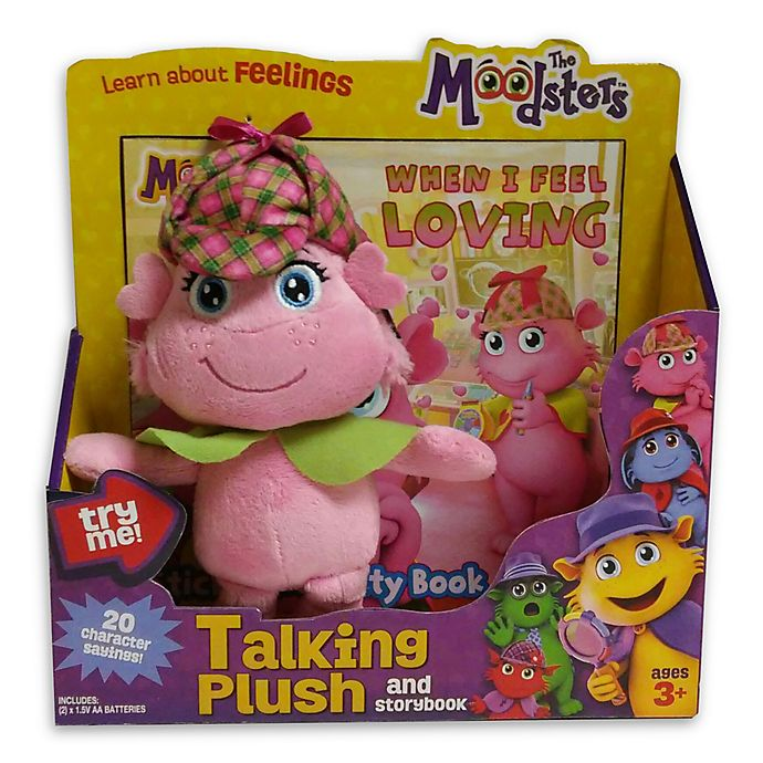 Alternate image 1 for The Moodsters™ Talking Lolly Plush Toy with Activity Book