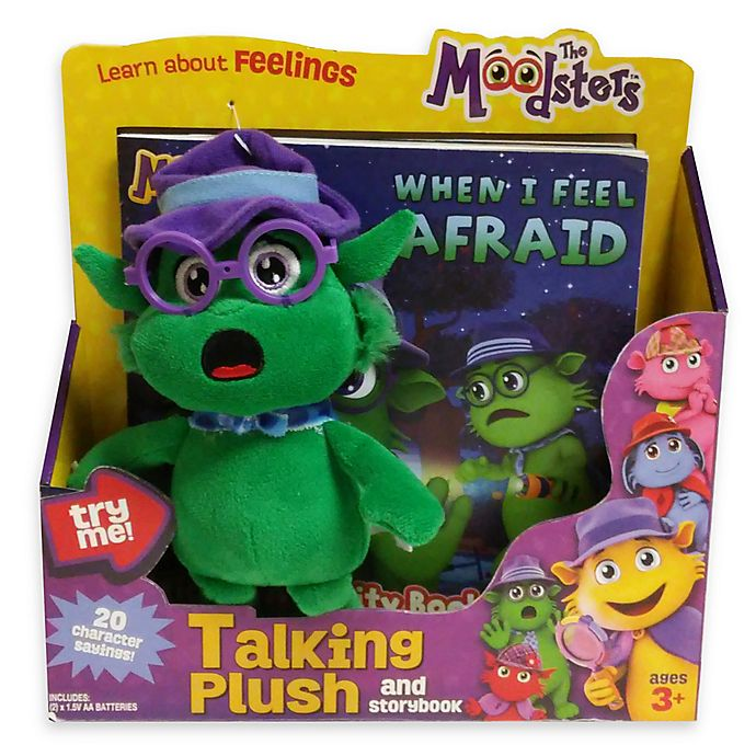 Alternate image 1 for The Moodsters™ Talking Quigly Plush Toy with Activity Book