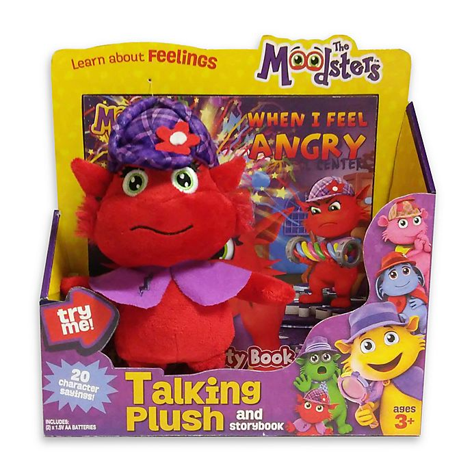 Alternate image 1 for The Moodsters™ Talking Razzy Plush Toy with Activity Book